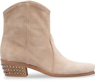 5e50a6a97061 Miu Miu embellished heel cowboy boots