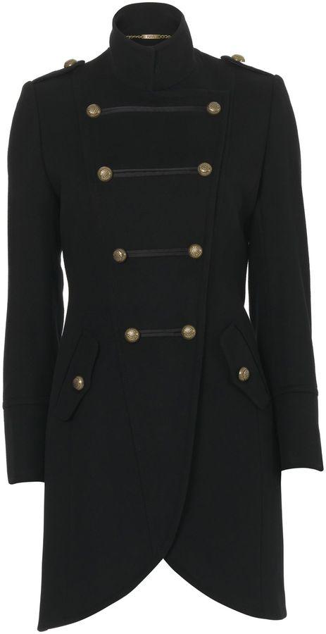 Biba Military-style wool coat