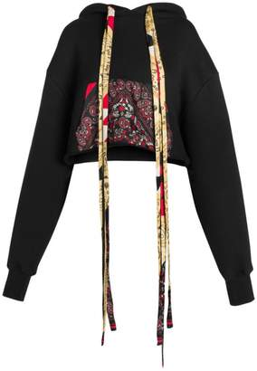 Alanui Bandana Cotton & Cashmere Cropped Hoodie