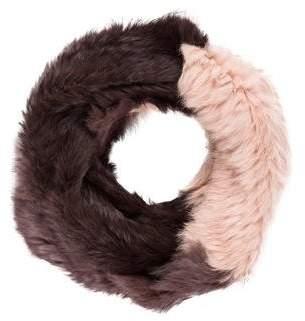 Jocelyn Knit Fur Infinity Scarf
