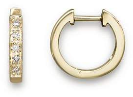 KC Designs Diamond Mini Hoops in 14K Yellow Gold