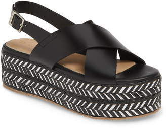 269ff0dd28b6 Kaanas Metalik Ada Platform Wedge Slingback Sandal