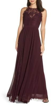 Heartloom Dakota Sleeveless Lace Trim Gown