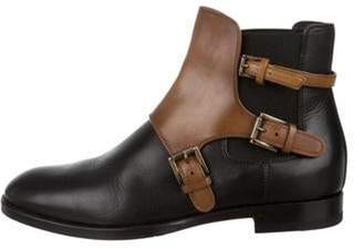 Santoni Leather Ankle Boots Black Leather Ankle Boots