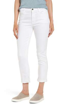 Jen7 Stretch Straight Leg Crop Jeans