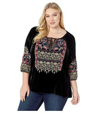 Johnny Was JWLA By Women's Size Plus Peasant Blouse