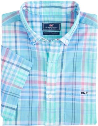 Vineyard Vines Jay's Peak Plaid Short-Sleeve Classic Tucker Shirt