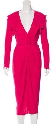 Roland Mouret Long Sleeve Midi Dress