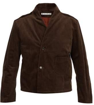 SASQUATCHfabrix. Contrast Panel Corduroy Jacket - Mens - Brown