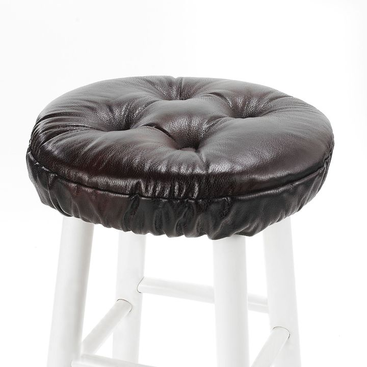 Bed Bath & Beyond Boise Brown 4-Tack Delightfill® Gripper® Bar Stool Seat Cover