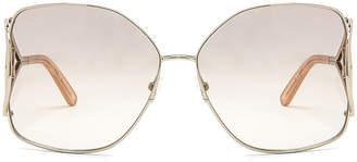 Chloé Jackson Sunglasses in Gold & Peach | FWRD
