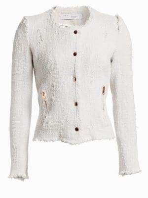 IRO Lala Frayed Zip-Up Jacket