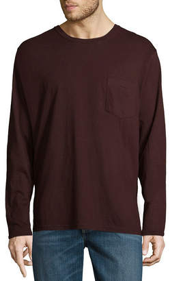 STAFFORD Stafford Long Sleeve Crew Neck Pocket T-Shirt