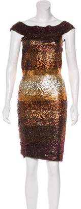 Herve Leger Ombré Sequin Cocktail Dress
