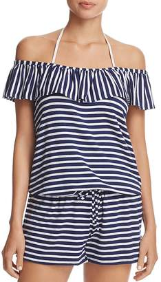 Splendid Stripe Covers Romper Swim Cover-Up
