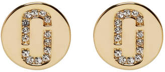 Marc Jacobs Gold Double J Stud Earrings