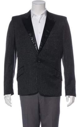 Alexander McQueen 2004 Metallic Striped Tuxedo Jacket black 2004 Metallic Striped Tuxedo Jacket