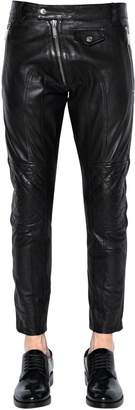 DSQUARED2 15cm Leather Biker Pants