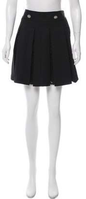 The Kooples Pleated Wool-Blend Skirt w/ Tags