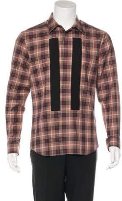Givenchy 2015 Plaid Woven Shirt
