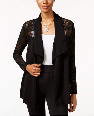 Thalia Sodi Lace-Trim Open-Front Cardigan, Only at Macy's $59.50 thestylecure.com