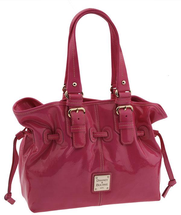 Dooney & Bourke 'Small Chiara' Patent Leather Drawtop Bag