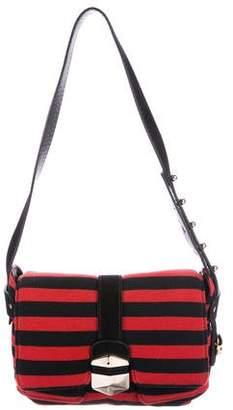 Sonia Rykiel Leather-Trimmed Shoulder Bag