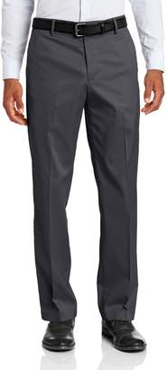 Dockers Iron Free Khaki D2 Straight Fit Flat Front Pant, Storm, 42x32