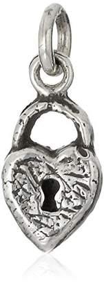 Pyrrha Heart Lock Sterling Symbol Pendant Charm