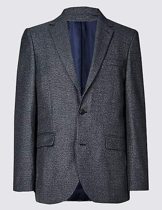 M&S Collection Textured Tailored Fit Jacket