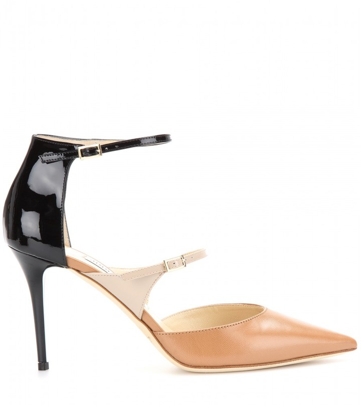 Jimmy Choo Twist leather pumps