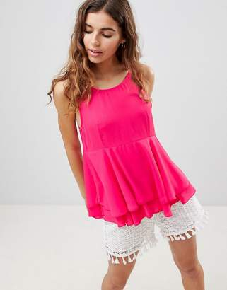 Brave Soul Alex Tank With Frill Detail
