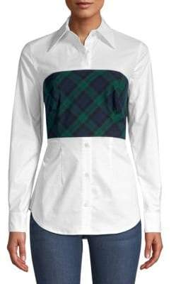 Petersyn Monroe Plaid-Overlay Shirt