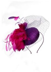 Black Tulip Dome Fascinator