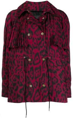 Just Cavalli leopard print pleat jacket