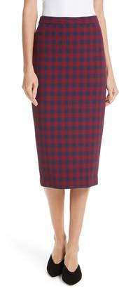 A.L.C. Thea Plaid Wool Pencil Skirt