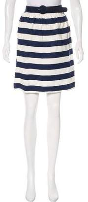 Alice + Olivia Striped Knee-Length Skirt
