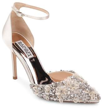 Badgley Mischka Women's Fey Embellished Satin Pumps