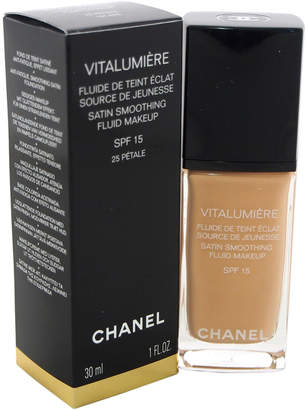 Chanel Women's 1Oz #25 Petale Vitalumiere Moisture-Rich Radiance Sunscreen Fluid Makeup Spf 15