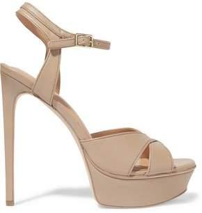 Halston Naomi Leather Platform Sandals