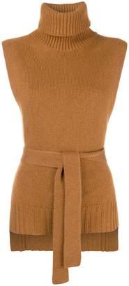 Etro belted sleeveless jumper