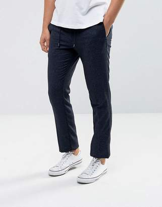 Tommy Hilfiger Neppy Wool Joggers In Slim Fit Navy