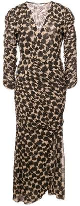 Diane von Furstenberg leopard wrap dress