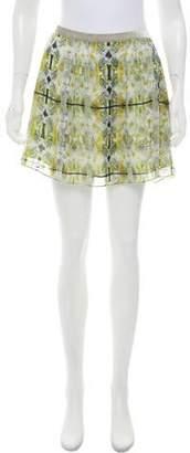 Theyskens' Theory Silk Printed Skirt
