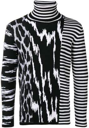 Givenchy contrast pattern knit sweater