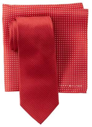 Tommy Hilfiger Silk Two-Tone Tie & Pocket Square Set