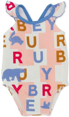 Burberry letter block swimsuit