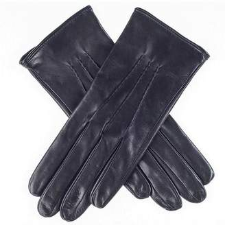 Black Ladies' Silk Lined Leather Gloves