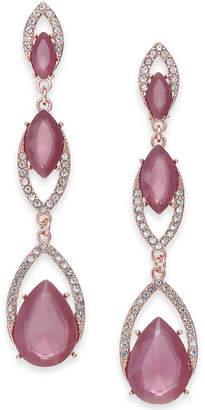INC International Concepts I.n.c. Crystal Double Drop Linear Earrings