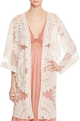 En Créme Lace Kimono Jacket - 100% Exclusive $68 thestylecure.com